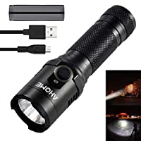 AHOME Tactical Torch USB Rechargeable Flashlight with Magnetic Base 1000 Lumen LED Lamp