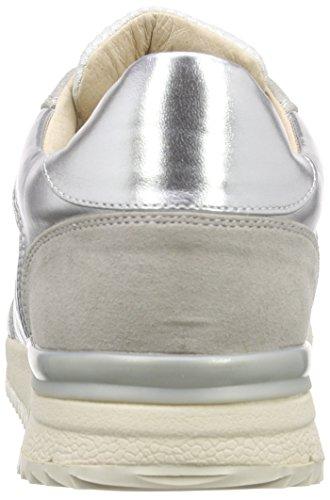 Buffalo 15bu0211 Imi Suede Mesh Pu Damen Sneakers Weiß (SILVER130)