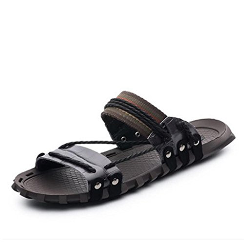 W&XY Sandales en cuir Summer Mens XL avec pantoufles de bain anti-dérapant 44