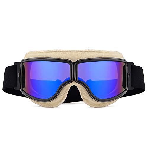 Universal Motorrad Sonnenbrille Vintage Sport Radfahren Brille Helm Goggle Pilot Aviator Motorrad Roller Reiten Biker Racing Goggles