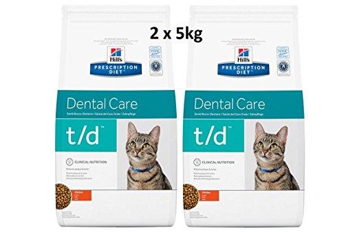 Diet Feline t/d Dental Care: 2 x 5kg Veterinary Diets Trockenfutter ()