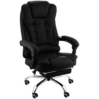Saitzoit sedia poltrona da ufficio ergonomica reclinabile for Poltrona ufficio con poggiapiedi