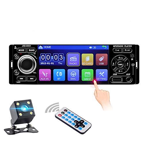 DONGMAO Autoradio 1 DIN JSD-3001 Pantalla táctil de 4.1 Pulgadas Auto Audio Vínculo Espejo Estéreo del automóvil Bluetooth Cámara de visión Trasera