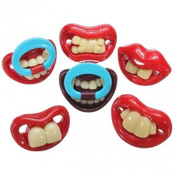 Jour Gagtooth lèvres Tétines Dummy dentition de bébé de mamelon de Souked Avril Fool