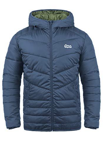 JACK & JONES Originals Jacco Herren Steppjacke Übergangsjacke Jacke mit Kapuze, Größe:XL, Farbe:Vintage Indigo