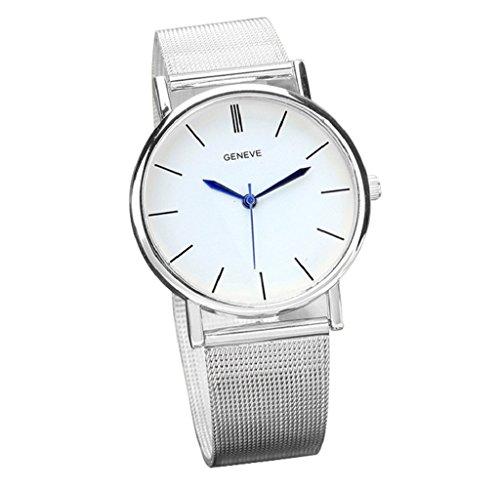 Reloj de las mujeres, FEITONG Gen VE mujer es reloj de manera de acero inoxidable de los relojes de pulsera de cuarzo de banda SL