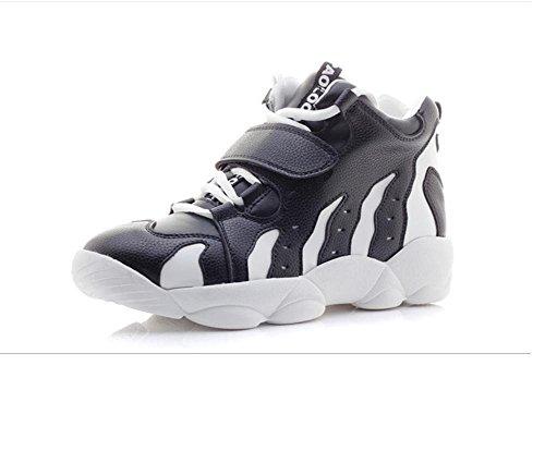 Femmes épeler couleur plate-forme plate-forme chaussures casual chaussures pour aider le sport faible chaussures de course Black