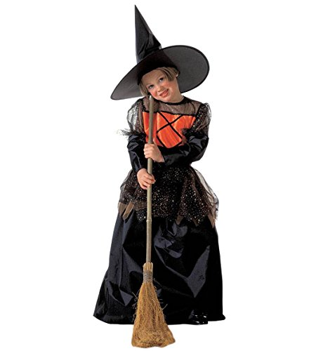 Imagen de niñas pequeña bruja deluxe 128cm niño disfraz pequeño 5.7 años 128cm para los disfraces de halloween