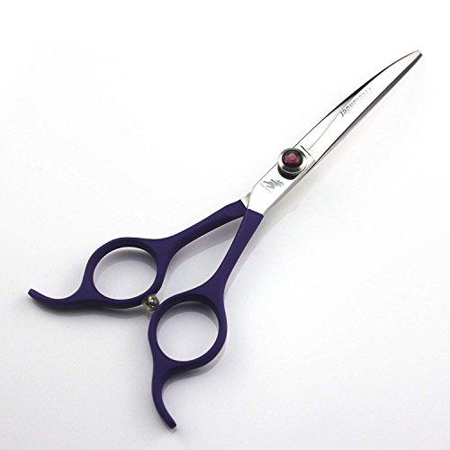 Moontay 16,5cm Japan 440C discendente curvo professionale forbici toelettatura cane capelli taglio forbici per sinistra o destra Pet Groomer