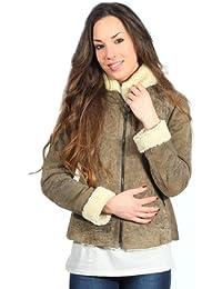 Veste en cuir marron clair Giubbino PN232D1873 hommes d'Aeronautica Militare