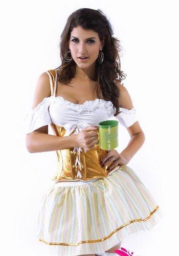 er Wench Dienstmädchen Kleid Kostüm 8–10S (Bier Wench Kleid)