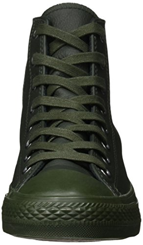 CONVERSE ALL STAR HI LEATHER VERDE SCURO Verde Militare/Nero