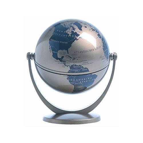 10 cm Dreh-Schwenk-Globus: Mini Globus metallic gold, goldener Fuß 10cm ∅