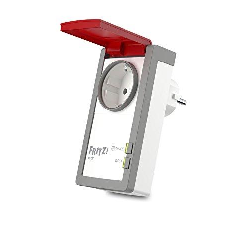 AVM FRITZ!DECT 210 (intelligente Steckdose für Smart Home, mit Spritzwasserschutz (IP 44) für Einsatz im Außenbereich) -