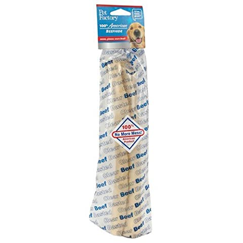 Pet Factory Usa Clear Basted Beef Retriever Rawhide Roll Dog Chews Treat 10-11