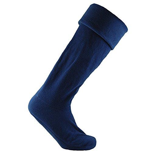 Horizon Unisex Fleece Gummistiefel Liner Socken (35-38 EU) (Marineblau)