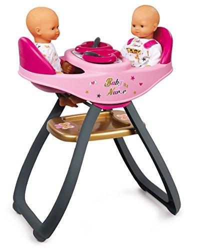 Trona gemelar Baby Nurse para muñecos bebé con accesorios...