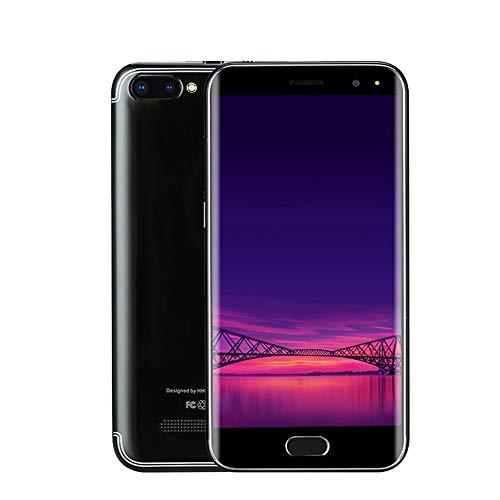 Prevently P113 Smartphone 5,0 Zoll Doppel-SIM 6.0 VOLLER Schirm Screen WiFi Bluetooth GPS 3G Anruf-Handy 32GB interner Speicher (Black)