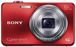 Sony Cyber-shot DSC-WX150 18.2MP Point-and-Shoot Digital Camera (Red) with Camera Case