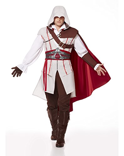 Spirit Halloween-Kostüm Ezio, Assassin's Creed - Braun - Erwachsene medium (Für Erwachsene Assassin's Creed Ezio Kostüm)