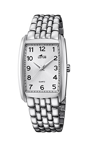 Lotus Unisex Quartz Watch with Silver Dial Analogue Display and Silver Stainless Steel Bracelet 18353/1