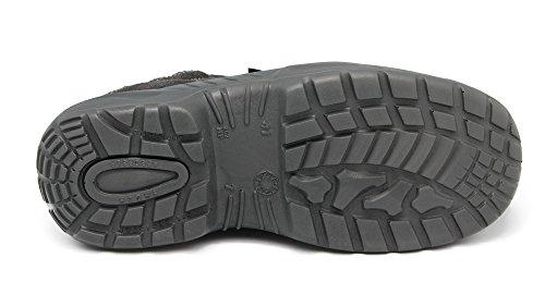 BASE S1P Chaussures De Sécurité Construits Pour Le Travail Avec Embout en acier Gris