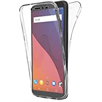 """Coque Gel Wiko View ( 5.7"""" Pouces) , Buyus Coque 360 Degres Protection INTEGRAL Anti Choc , Etui Ultra Mince Transparent INVISIBLE pour Wiko View , Coque Wiko View"""