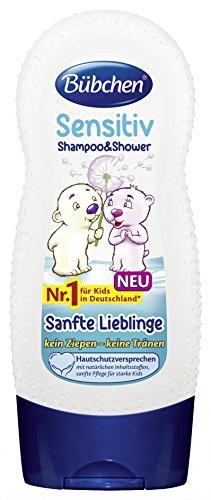 Shampoo e doccia Bübchen bambini beniamini Gentle, 4-Pack (4 x 230 (Gentle Shampoo)