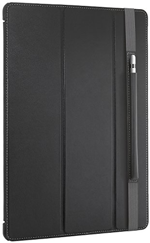 "StilGut Couverture Case, Hülle aus feinstem Leder mit Pencil Halter für das Apple iPad Pro 12,9"", Schwarz Nappa"