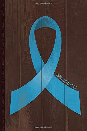 Colon Cancer Awareness Ribbon Journal Notebook: Blank Lined Ruled For Writing 6x9 120 Pages por Flippin Sweet Books