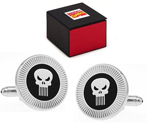 Marvel-Comics-Punisher-Logo-Superhero-Silver-Skull-Gemelos–Gemelos-Incluye-Caja-de-Regalo-diseo-de-Marvel-Comics