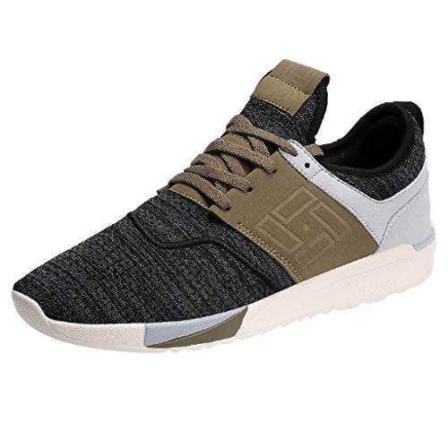 urnschuhe Straßenlaufschuhe Sneaker mit Snake Optik Damen Herren Sportschuhe Atmungsaktiv und verschleißfest Schwarz, Grau, Braun 39-44 ()