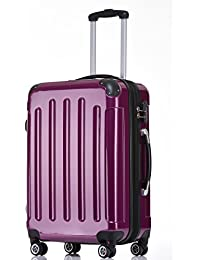 BEIBYE Zwillingsrollen 2048 Hartschale Trolley Koffer Reisekoffer in M-L-XL-Set in 14 Farben