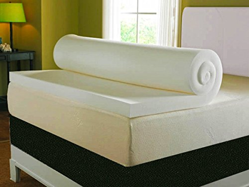 Visco Therapy Mattress Topper with Cover, 7 cm (3 Inch) Deep Memory Foam, 135 x 190 cm, Double 2