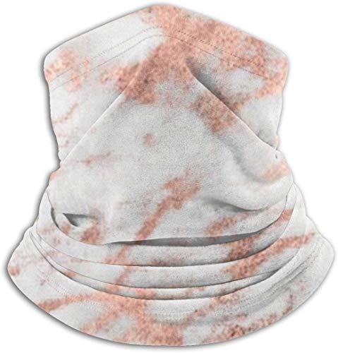 Osmykqe Pink Rose Gold Unisex Winter Nackenwärmer Gamaschen Haarband Kaltes Wetter Tube Face Mask Thermal Halstuch