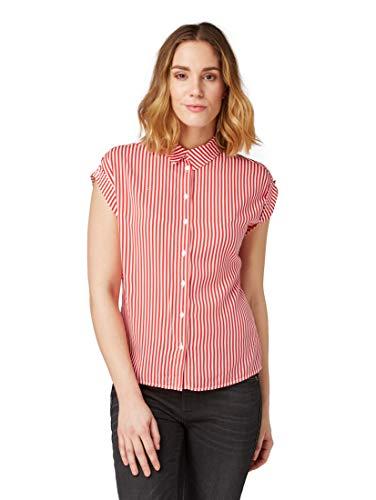TOM TAILOR für Frauen Blusen, Shirts & Hemden Gestreifte Bluse red Stripe, 42