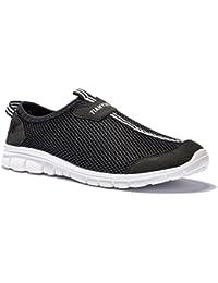 Vibdiv--Hombre,Zapatilla Deportiva / Slip on Ligero Casual Zapatos(EU 42 UK 7.5,Negro)