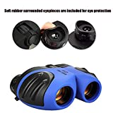QHJ Outdoor Telescope for Kids - Binoculars, Leichtes Mini Compact Wasserdichtes Binoculars für Kinder (Blau)