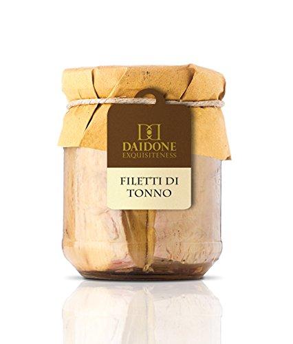 Filetti di Tonno Pinna Gialla Artigianali Siciliani in Olio d'Oliva - 12 Vasetti da 200g