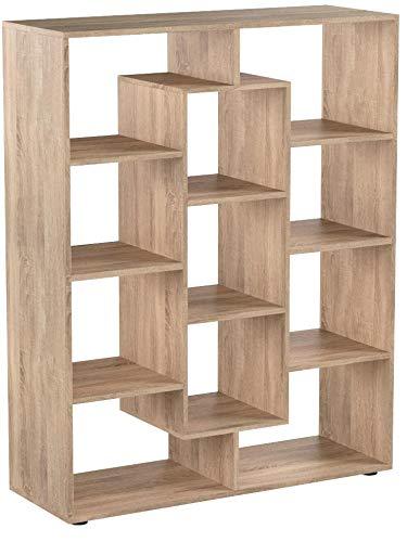 Vicco Raumteiler 11 Fächer Bücherregal Standregal Aktenregal Hochregal Aufbewahrung Regal (Sonoma Eiche)