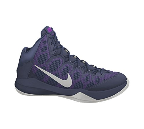 Nike Herren Zoom Without A Doubt Basketballschuhe Blau / Silber / Schwarz (Mid Nvy / Mtllc SLVR-Obsdn-Nght)