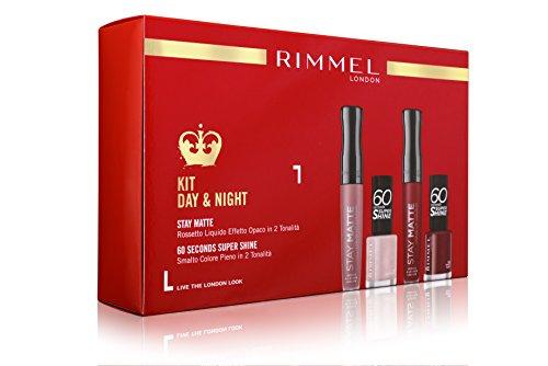 Rimmel Lippenstift Geschenkbox Stay Matte + Nagellack 60Sekunden