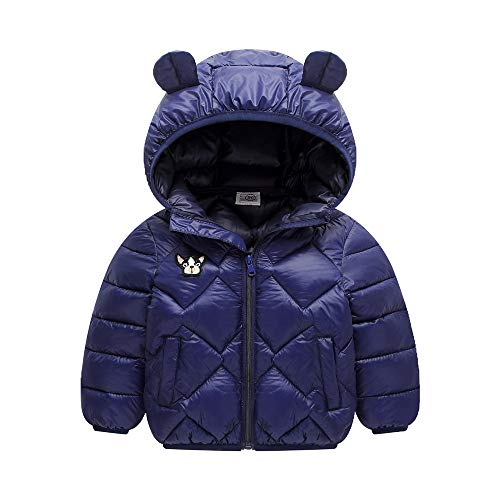 8490636fbaef17 Minizone Kids Winter Jacket Hooded Coat Warm Waterproof Lightweight Tops  Outfits 2-3 Years Dark