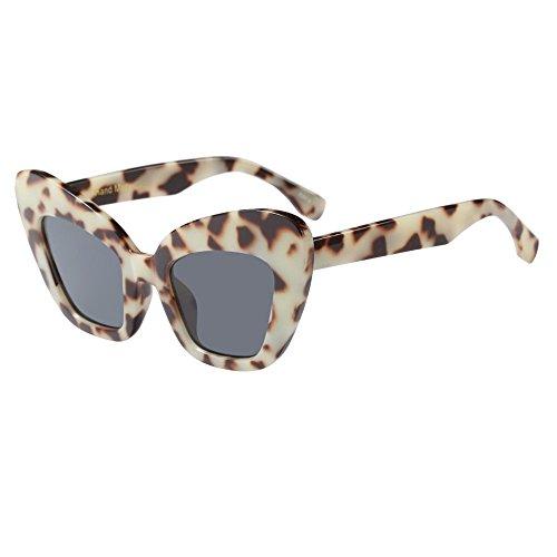 Battnot☀ Sonnenbrille für Damen Herren, Unisex Vintage Oversized Übergroße Unregelmäßige Rahmen Mode Anti-UV Gläser Schutzbrillen Männer Frauen Retro Billig Sunglasses Women Eyewear Eyeglasses