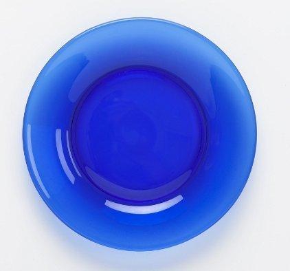 Mosser Glass 10 Cobalt Blue Dinner Plate by Mosser