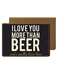 I Love Beer Credit Card Wallet By Robobull