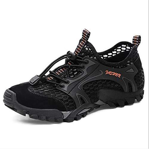 Männer Wanderschuhe männliche Ausschnitt Sandalen luftgitterspitze bis verschlossene Zehenschuhe für Sommer Outdoor Fitness -