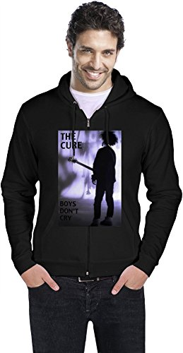 The Cure Boys Don't Cry Mens Zipper Hoodie XX-Large -