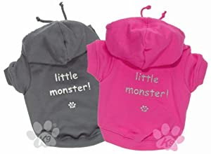 'Little Monster' Grey Dog Hoodie from K9 by Igloo Designs (medium)