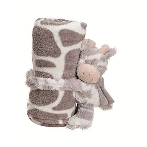 G. Wurm GmbH 1 x Baby Kuscheldecke Fleece Breite 100 cm, Zahlen-Standort:3 (Standort Für)